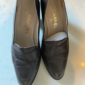 Chanel heel loafers